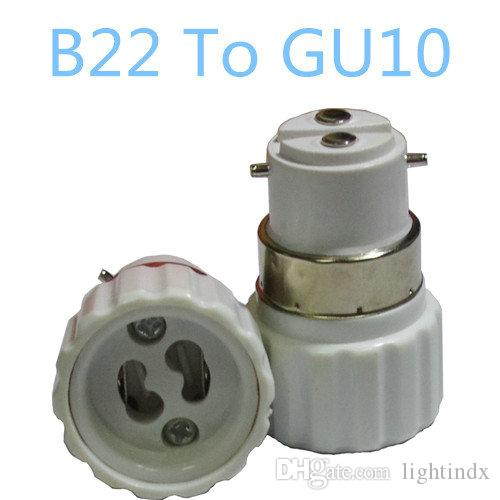 online cheap 5x b22 to gu10 adapter converters light sockets lamp holder led light adapter screw. Black Bedroom Furniture Sets. Home Design Ideas