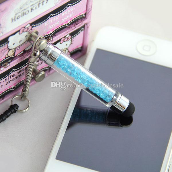 Мобильный телефон Аксессуары Rhinestone Стилус Стилус Ручка с пружинной проволокой для iphone 3G 3GS 4G 4S 5G 5S S4 S3 Note3 M7