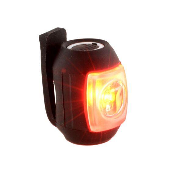 neue ankunft Schwarz USB Wiederaufladbare LED Zurück Rücklicht Rücklicht für Fahrrad MTB qualität freies verschiffen