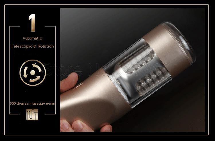 Automático Elétrico Masculino Masturbator Máquina para Homens Rotação Telescópica Masturbação Copo Sexo Vagina Anal Sex Toys Produtos Do Sexo