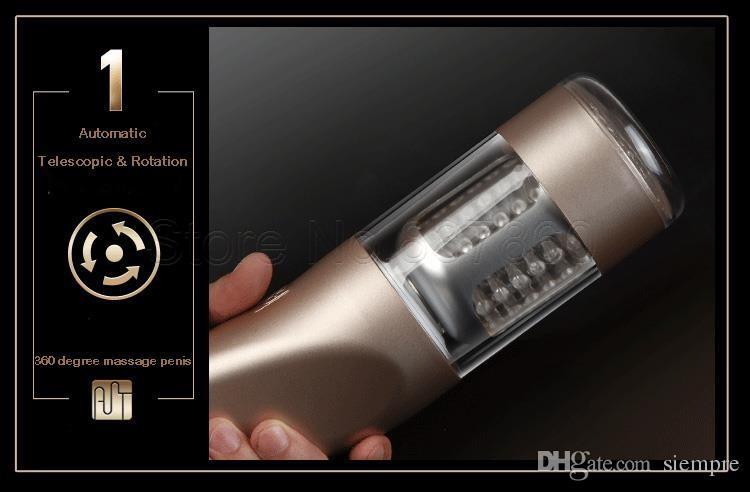Automatische Elektrische Masturbator Maschine für Männer Teleskop Rotation Masturbation Cup Sex Vagina Anal Sex Toys Sex Produkte
