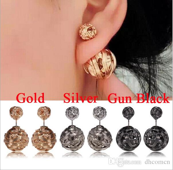 Excellent Women Ball Fashion Earrings Stud New Design Brand Dress Party Gift  HA59