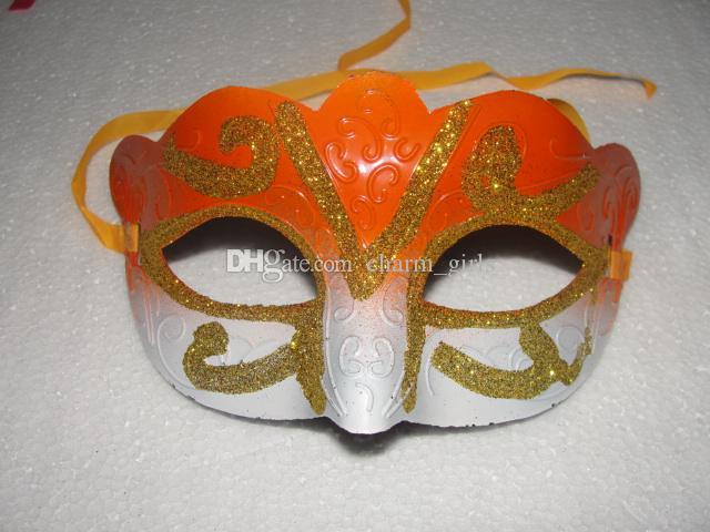 Mix 6 cores Máscara Do Partido Com Máscara de Ouro Glitter Venetian Unisex Sparkle Masquerade feriado Máscara