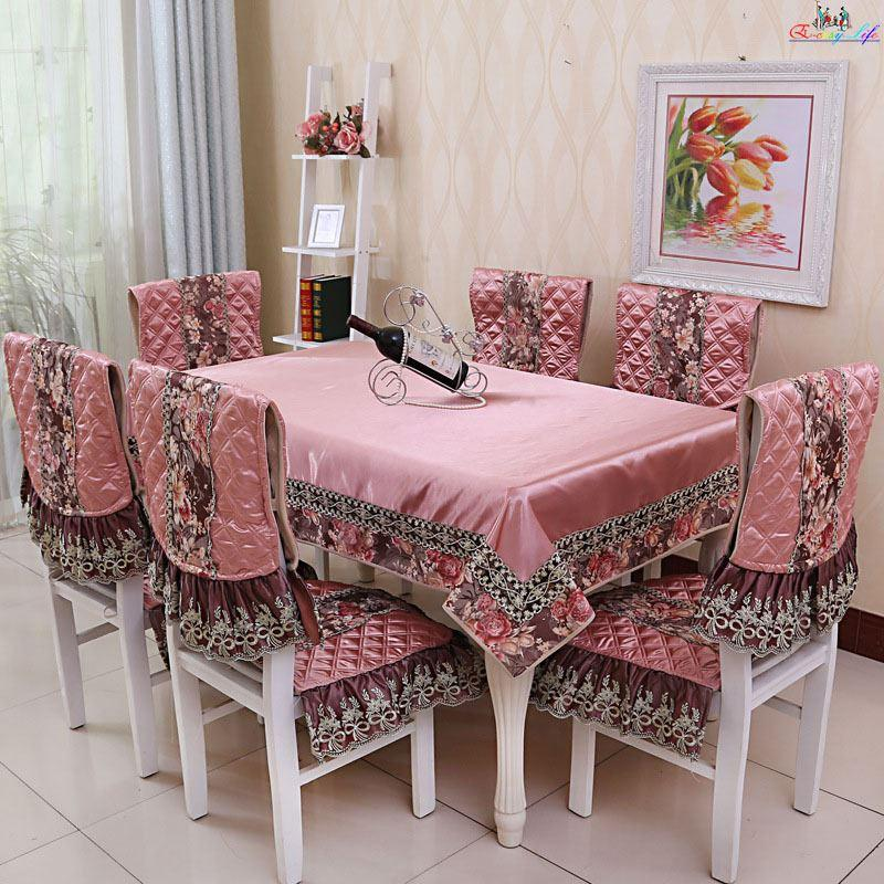 New Arrival Red Satin Table Cloth Rectangular Europe Banquet Tablecloth Home Decor Dining Cover Chair Set For Party