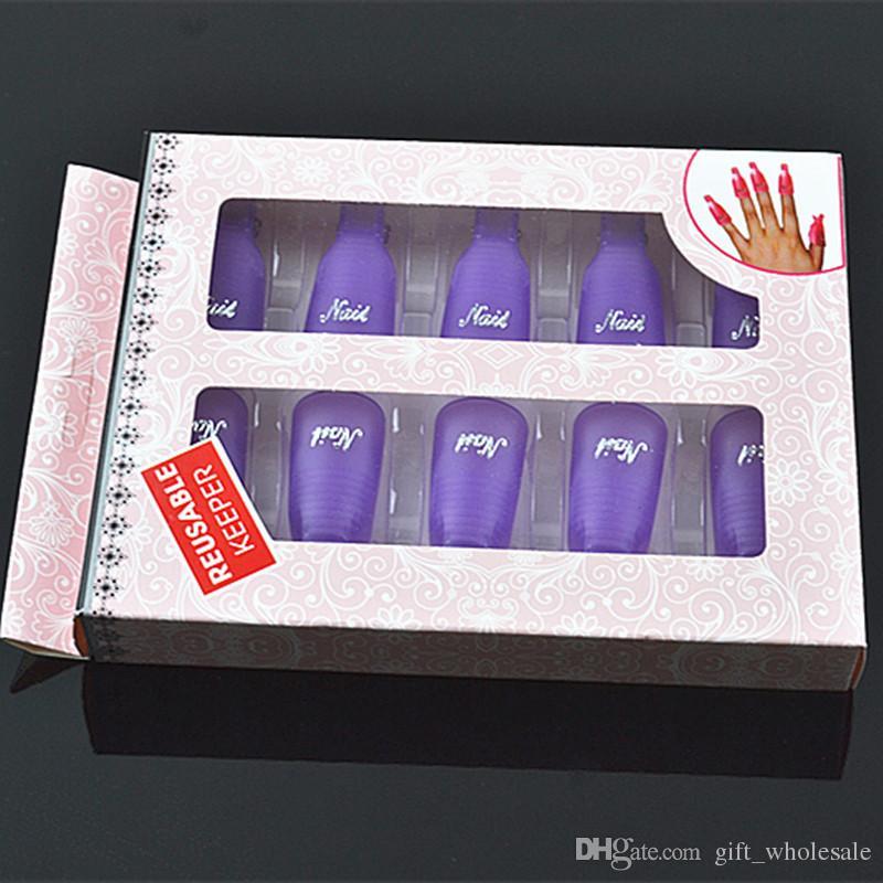 Any Colors New Fashion Hot Plastic Nail Art Soak Off Cap Clip UV Gel Polish Remover Wrap Tool Gofuly