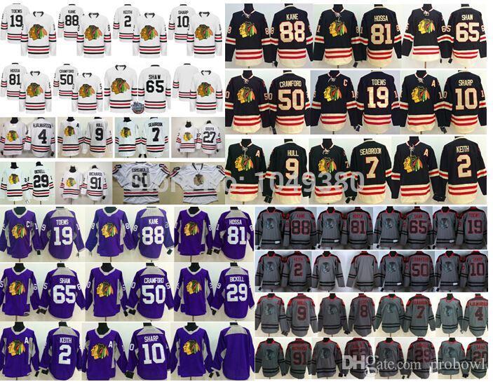 2015 Chicago Blackhawks Winter Classic Black White Hockey Jersey Purple  Charcoal 88 Patrick Kane Jersey 19 Jonathan Toews Jersey UK 2019 From  Probowl fa8ae5a101c