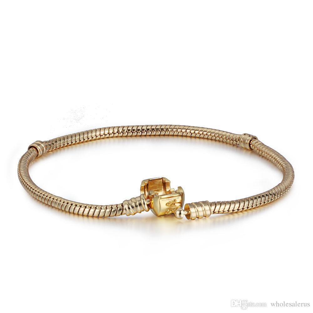 online cheap wholesale 14k gold plated charm bracelet s925. Black Bedroom Furniture Sets. Home Design Ideas
