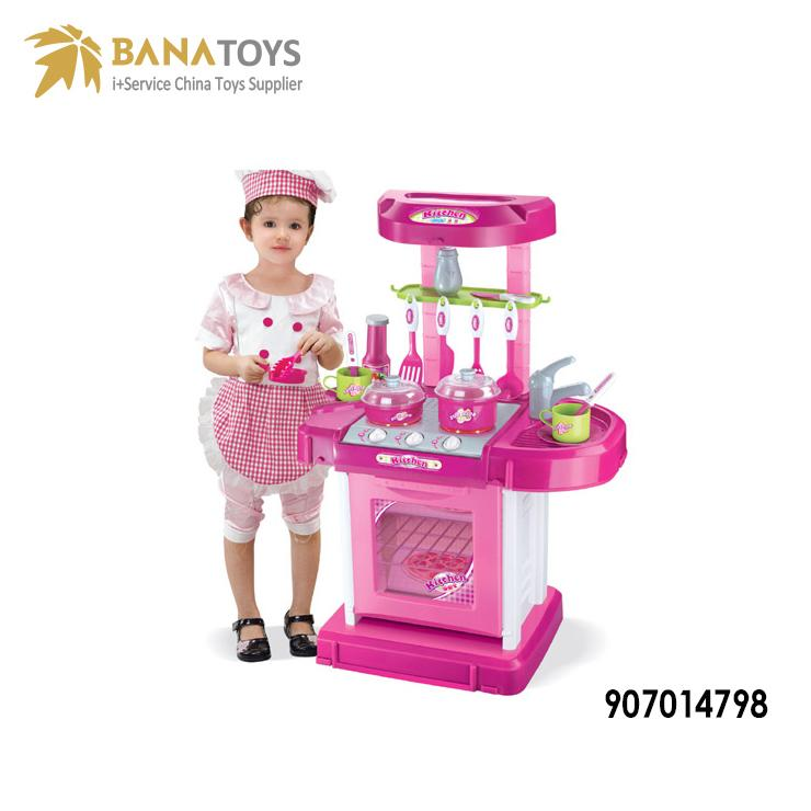 Hot sale preschool pretend play toys kids kitchen set toy for kids kitchen design mini kitchen set light music toys children love toys.