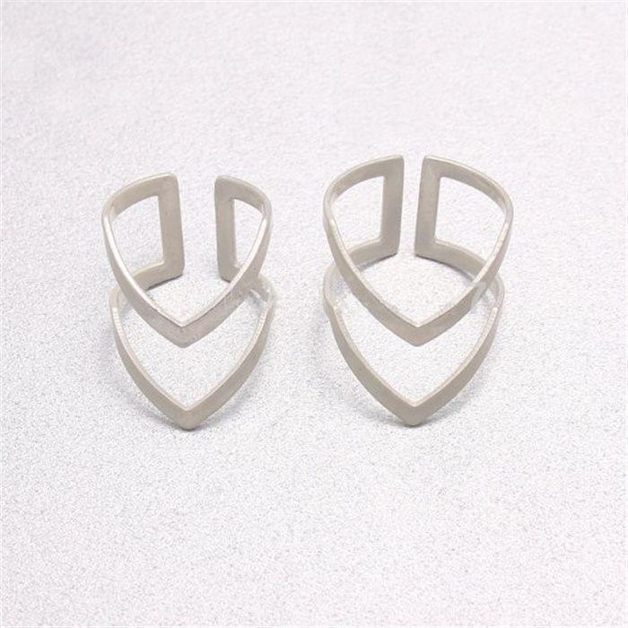 Nette Cluster Ringe für Frauen Mode Cluster Ringe Silber Überzogene Cluster Ringe 2016 Neue Ankunft für Sale25
