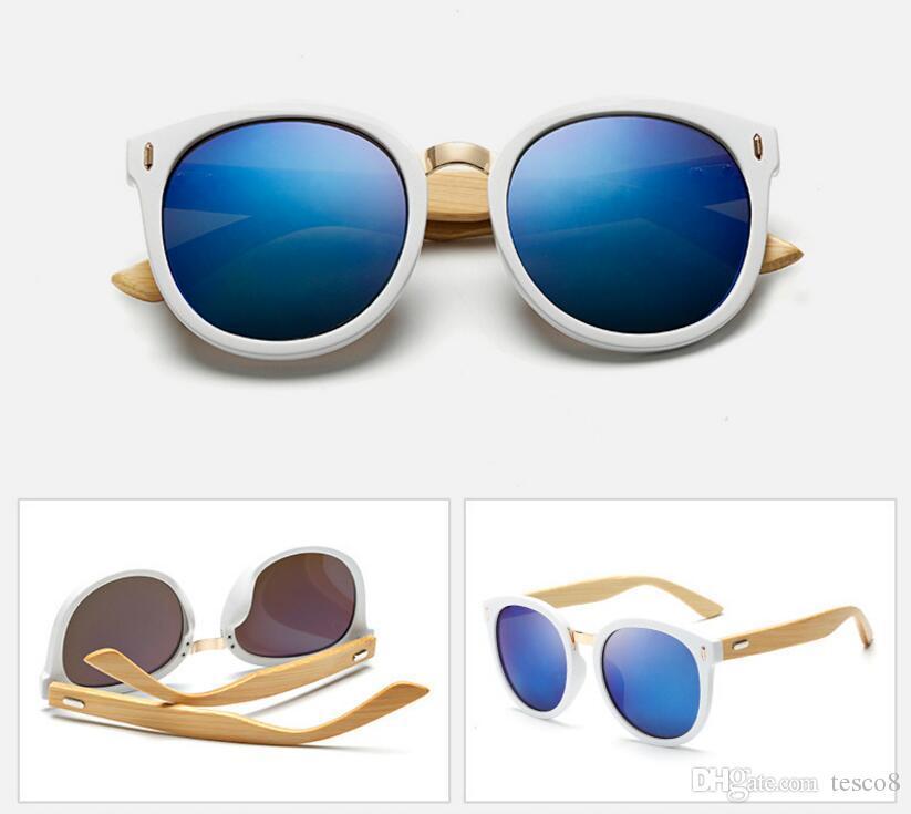 New Style Men Women Retro Sunglasses Bamboo Foot Designer Sun Glasses Summer Travel Bicycle Goggles Glasses Dazzle Colour Resin Lens Cheap