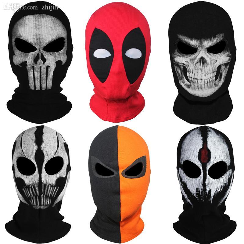 Wholesale 9style New Skull Ghost X Men Deadpool Punisher Deathstroke