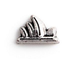 Оптовая продажа 20 шт. / лот серебряный цвет Сиднейский Оперный театр Шарм, DIY сплав плавающей медальон подвески, пригодный для стекла жизни магнитный медальон кулон