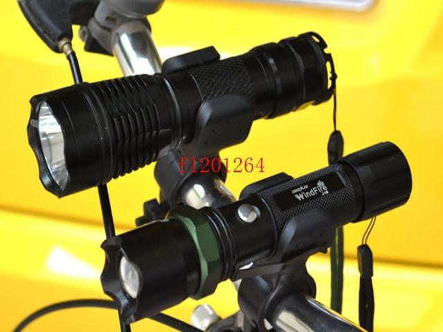 Ücretsiz Kargo 100 adet / grup Rotasyon Döner Bisiklet Dağı Bisiklet LED Far El Feneri Lamba Tutucu Braketi Kelepçe Klip Kavrama
