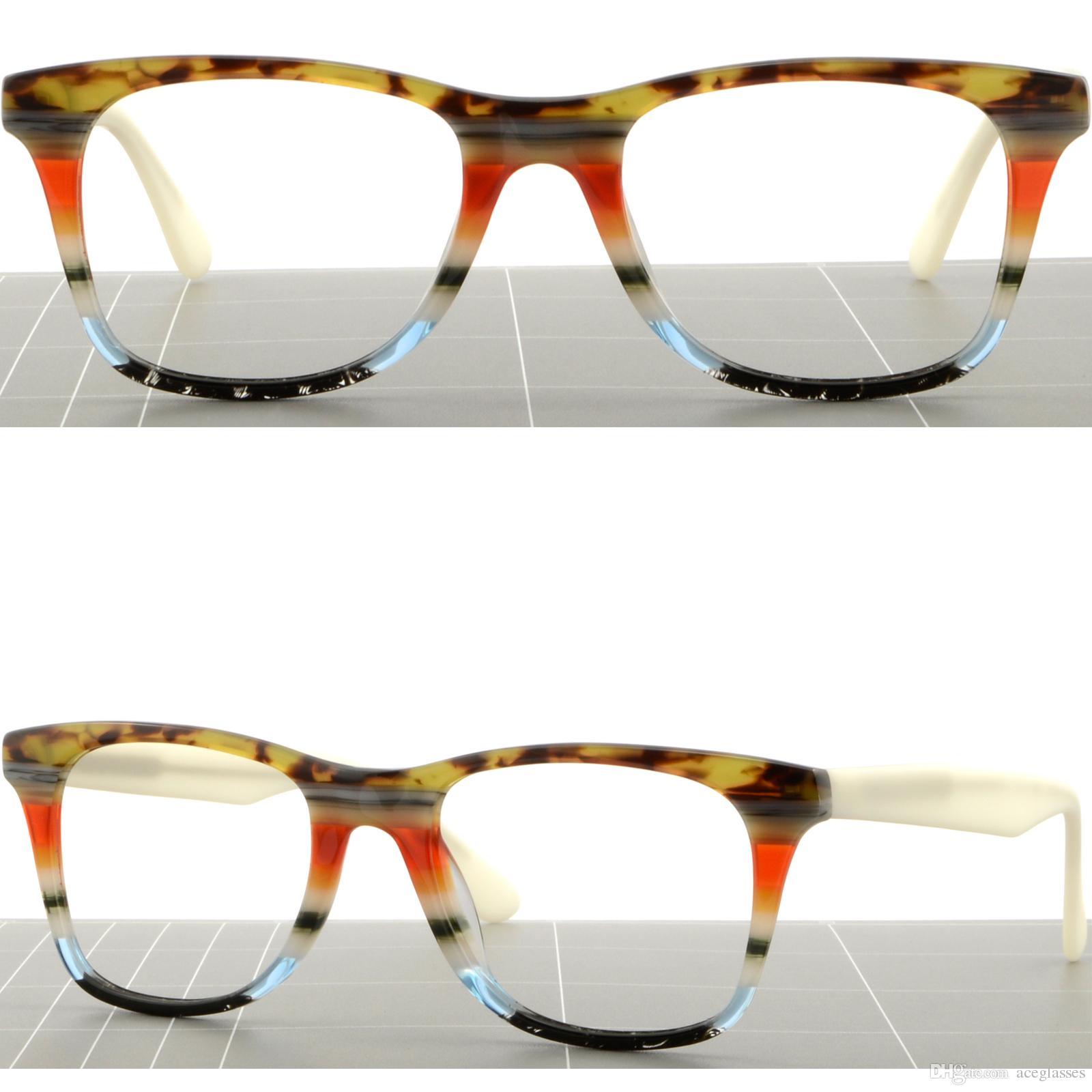 ad5db6efe4 Large Square Mens Womens Plastic Frames Light Prescription Glasses RX Sunglasses  Glasses Frame Online with  31.08 Piece on Aceglasses s Store