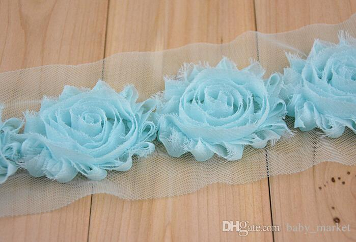 Vendita DAI CANTIERI! Accessori fascia capelli I! 65MM Shabby flash chiffon rose / girasoli / spilla / scarpe fiore / cappello fiore / 60YARDS /