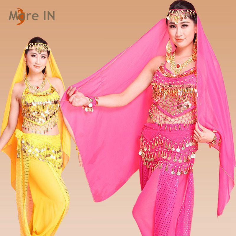 Compre Mujer Ropa De Baile De Vientre Traje De Baile De Bollywood ...