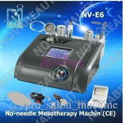 Nova 6in1 Diamond Dermabrasion Microdermabrasie Hot Cold Hammer Skin Scrubber Bio Lift Geen naald Mesotherapie Machine NV-E6