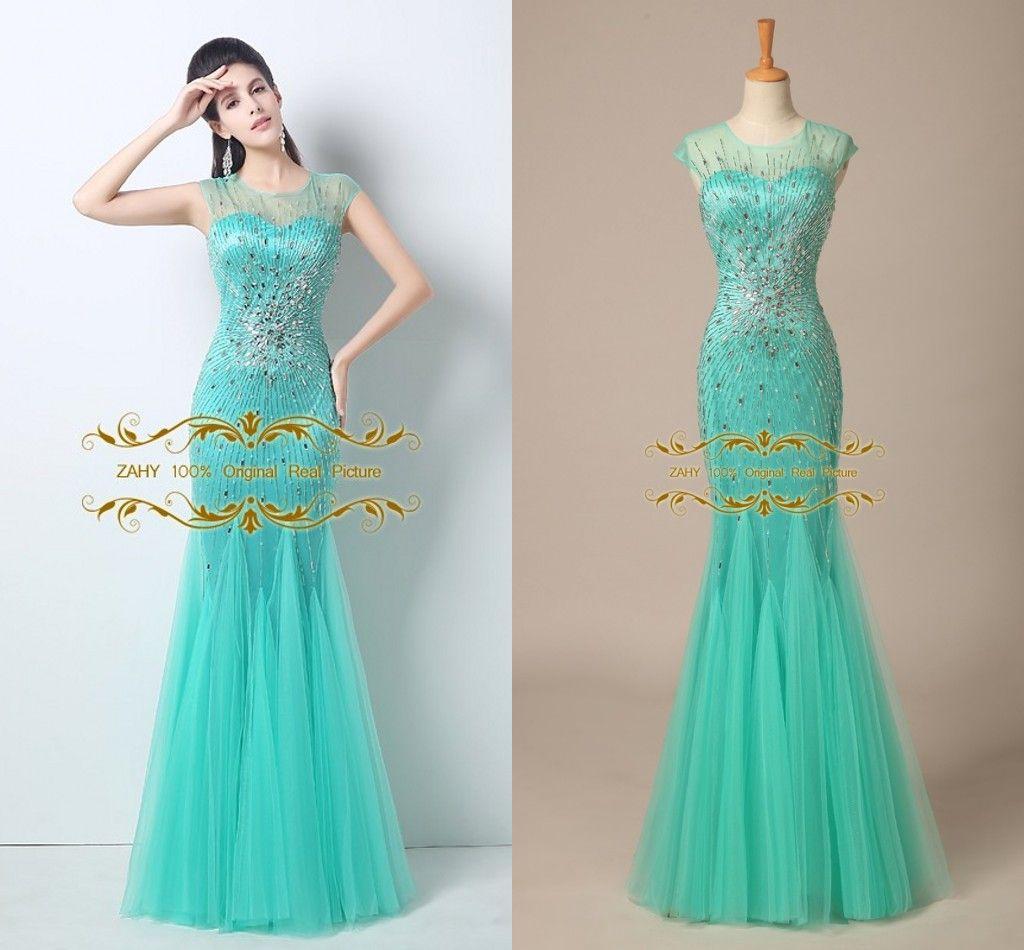 Gorgeous Celebrity Dresses Beautiful Crystal Beaded Slim Mermaid ...