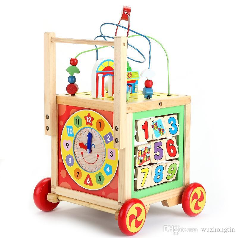 Amazing 2018 Baby Walker Toys Multifunctional Treasure Box Large Beads Around  Treasure Kidsmontessori Learning And Education Toys Wooden Toy From  Wuzhongtin, ...