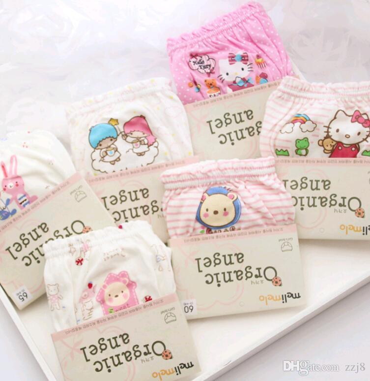 Cartoon Kids Underwear for Boys Organic Cotton Design Pattern Cute Baby Girls Briefs Panties with Card Pack fit 1-14
