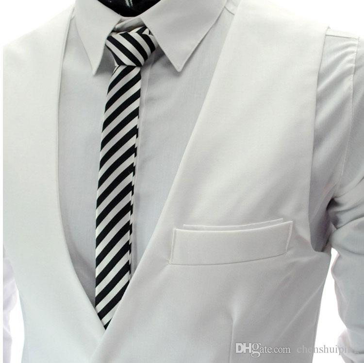 سترات رجالية ملابس خارجية بذلات عادية تناسب ضئيلة أنيق معاطف قصيرة البدلة السترة جاكيتات معاطف الزفاف الكورية الخامس الرقبة