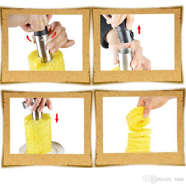 Paslanmaz Çelik Meyve Ananas Tart Dilimleme Soyma Parer Kesici Mutfak Kolay Araçlar Ücretsiz Kargo