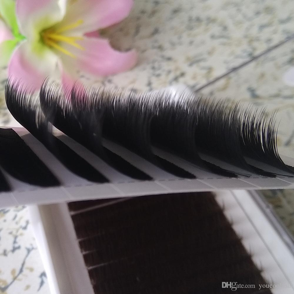 Real Volume Eyelash Extensions Mixed fans Lash Eyelashes 3D-6D 12 rows/tray 0.07 Volume Fans Youcoolash Factory Big Promotion