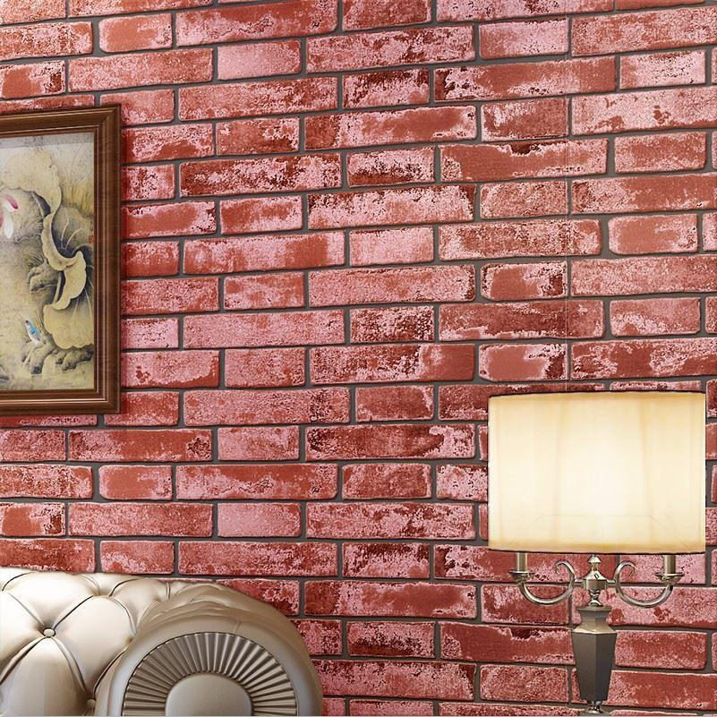 3d Mural Block/Stone/Brick Wallpaper Roll Vintage Embossed Wall ...