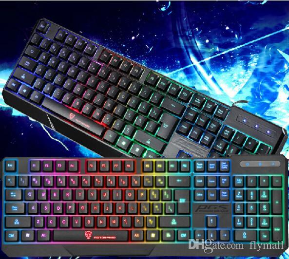 MotoSpeed K70 Ergonomique 7 LED Coloré Rétro-Éclairage USB Filaire Gamer Clavier de Jeu USB Alimenté pour Ordinateur Portable Teclado Gamer