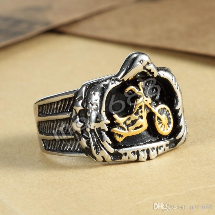 Silver/Gold Motor Bike Stainless Steel 3D Motorcycle Pendant Necklace