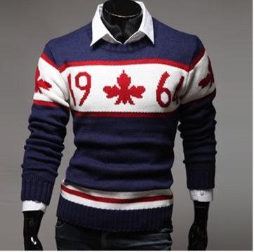 Traje Casual de moda para hombre de manga larga cuello redondo Flim Fit Rhombic Sweat Bopp impresión caliente de la camiseta
