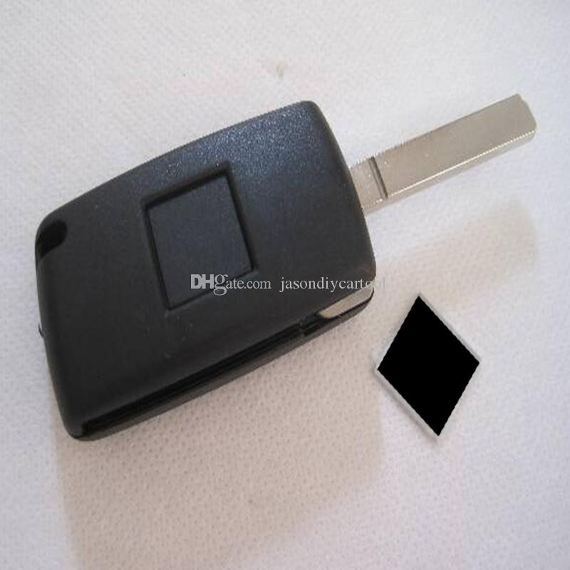Portachiavi pieghevole a 3 bottoni con fodera a chiave pieghevole a conchiglia Lama senza scanalatura con portabatteria Citroen C4 C5 C6 C8 Xsara Picasso
