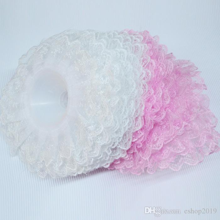 Double Lace Purfle Wedding Bridal Bouquet Holder Thalamous Party Ornament Flower Receptacles Torus wa126