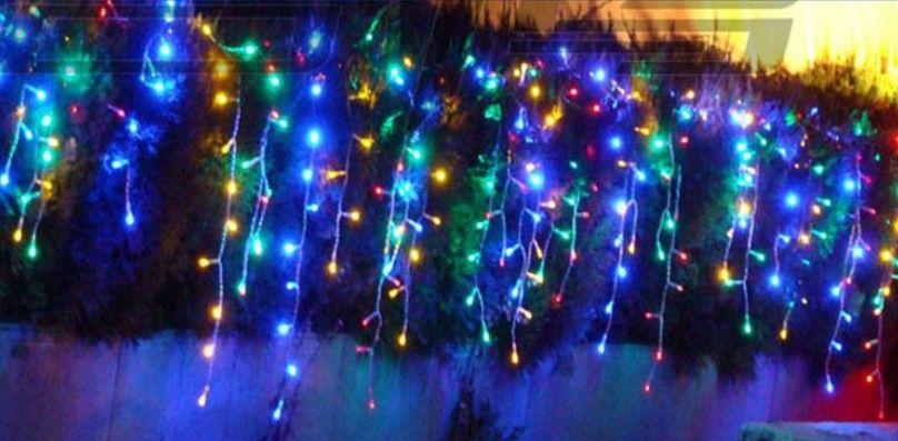 8 mt * 0,65 mt LED Vorhang Lichterkette 192 leds Eiszapfen Hintergrund Weihnachten Hochzeit Urlaub Fairy Lighting