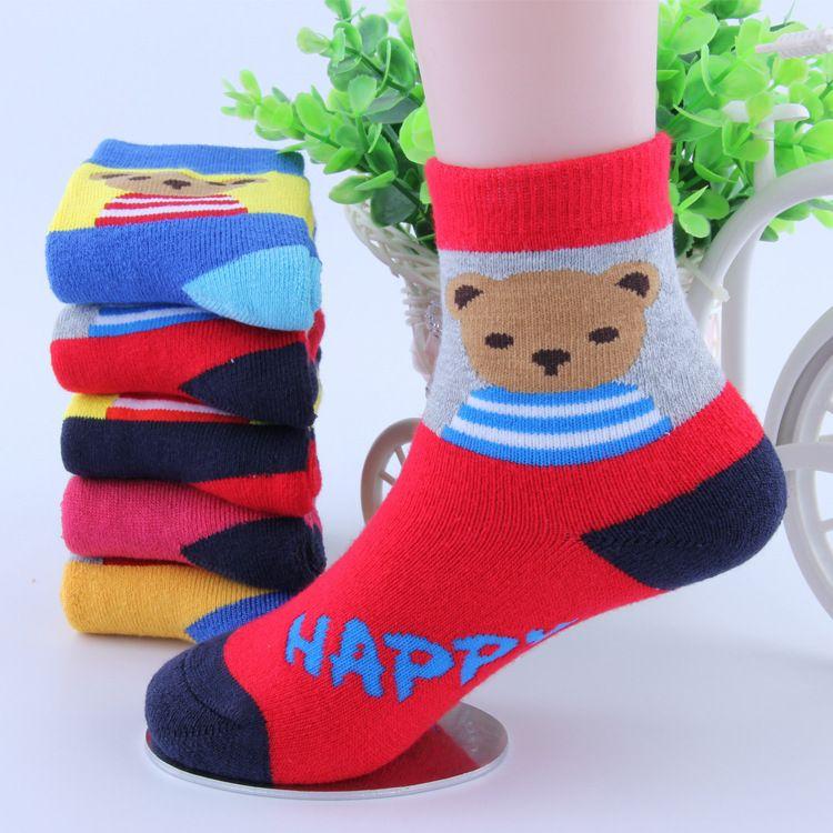 c2beeeea9361 2019 Baby Boys Girls Winter Warm Socks Kids Thermal Thickening Terry Socks  Children Toddler Animal Bear Dog Cartoon Sox From Sportsgril