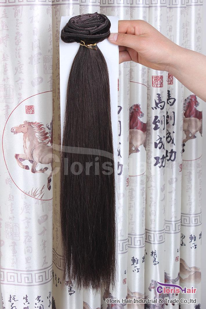 Tête complète épaisse 70g 100g ensemble clip droit sur des extensions de cheveux humains pas cher Remy Remy Péruvien EXCEPLES PIGNES 20 couleurs disponibles