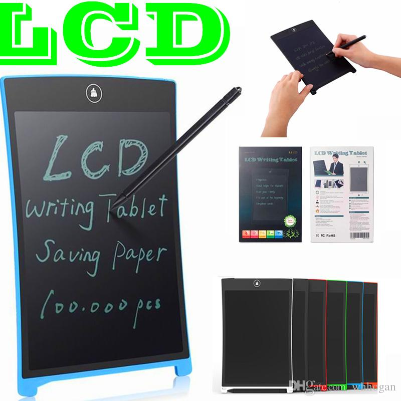 Color : Picture color , Size : 8.5 inches LCD Tablet 3 Pcs 8.5 Inches Childrens Drawing Board LCD Writing Board Electronic Office Small Blackboard Suitable For Kids For Home School and Office