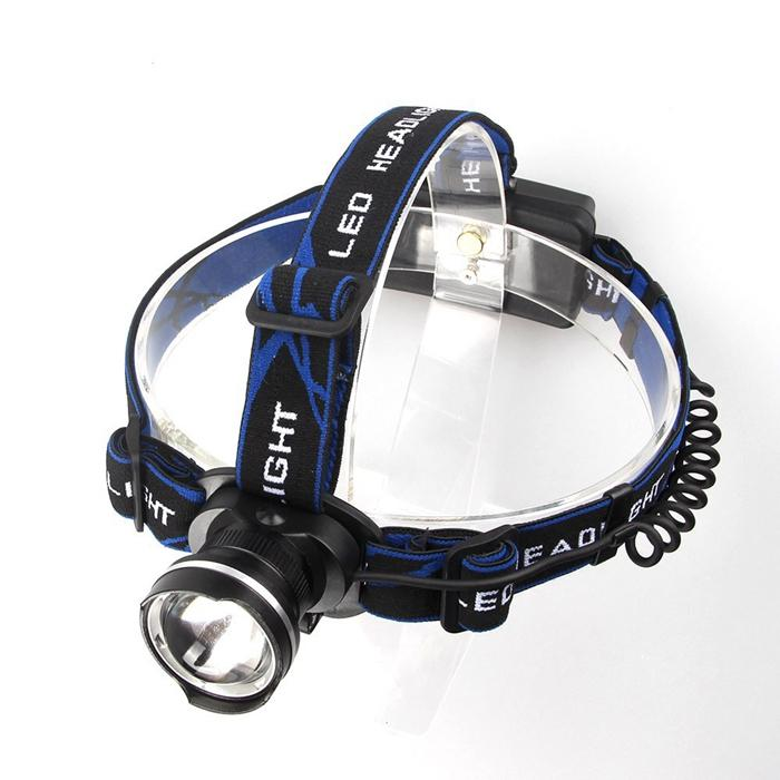 Waterproof Bicycle Fishing Camping Headlamp CREE XM-L T6 LED 1800Lm Zoomable Headlight Including Charger