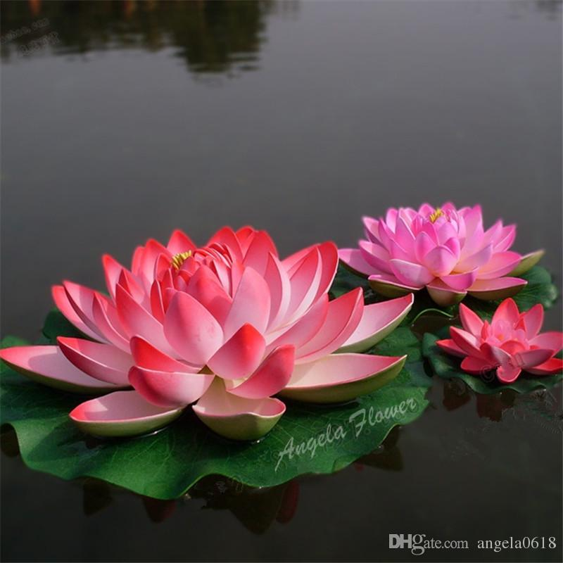 2019 30cm Eva Real Look Lotus Flowers Pond Home Swmming Pool Party