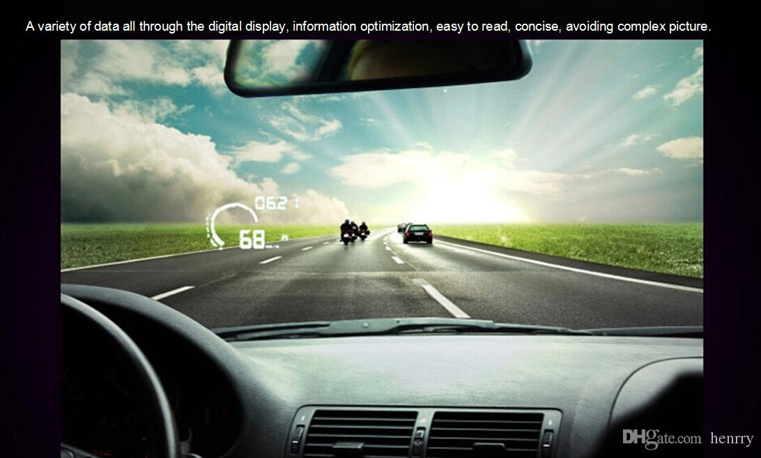 5 قطع ifound هود s5 obd القيادة المشتركة كاشف خطأ الذكية متر الوقود على متن الكمبيوتر عرض عداد المسافات سيارة هود 5.5 بوصة لون الإسقاط