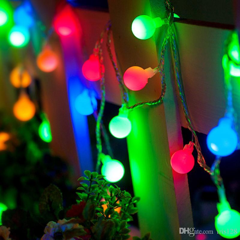 dhl hot christmas colorful led strings 100 led lights 10 meter ball light christmas wedding party decoration led strings outdoor light string string lights