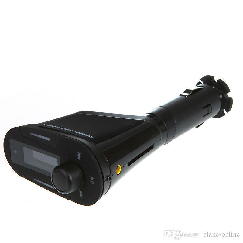 車LCDキットMP3ステレオオーディオプレーヤーワイヤレスオートチャージャーFMトランスミッターUSBチャージャーアダプターWMA SD MMCカードスロット