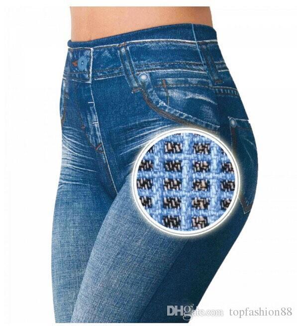 Горячие продажи тонкий jeggings женщины леггинсы с реальными карманами 2016 Новый Faux джинсы леггинсы женская мода леггинсы спортивные брюки Брюки XXL