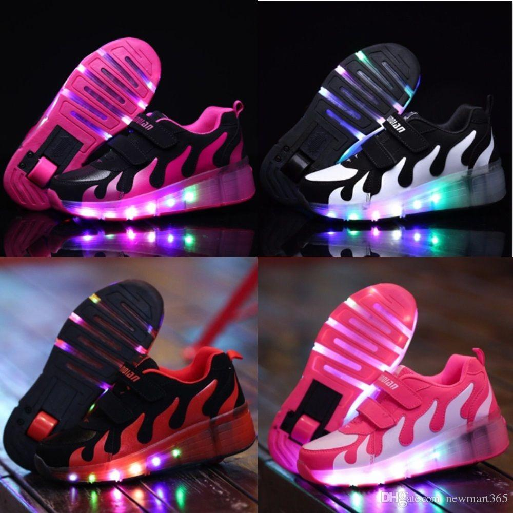 LED Light Roller Skate Shoes For Child Girls Boys Children Kids Sneakers  With Wheels One Wheels Size 28 36 Platform Shoes Hiking Shoes From  Newmart365 cdb4c93f0