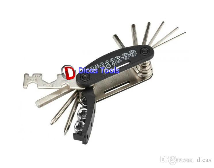 15 в одном многофункциональном набор ключей портативный комбинированный тип шестигранный ключ комбинированный ручной инструмент гаечный ключ велосипеда