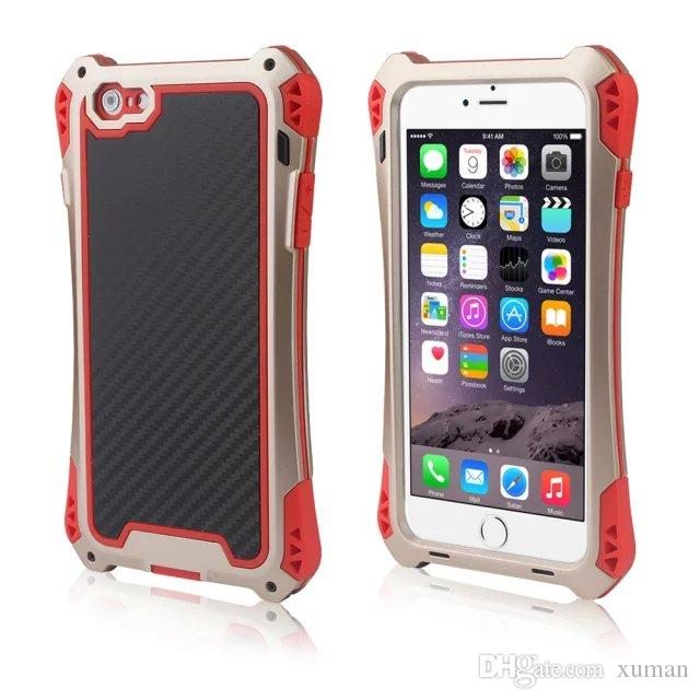 Vatten / smuts / stötsäker Aluminiummetallfodral Skydd Gorilla Glas för iPhone 6 Vattentät stötsäker ny