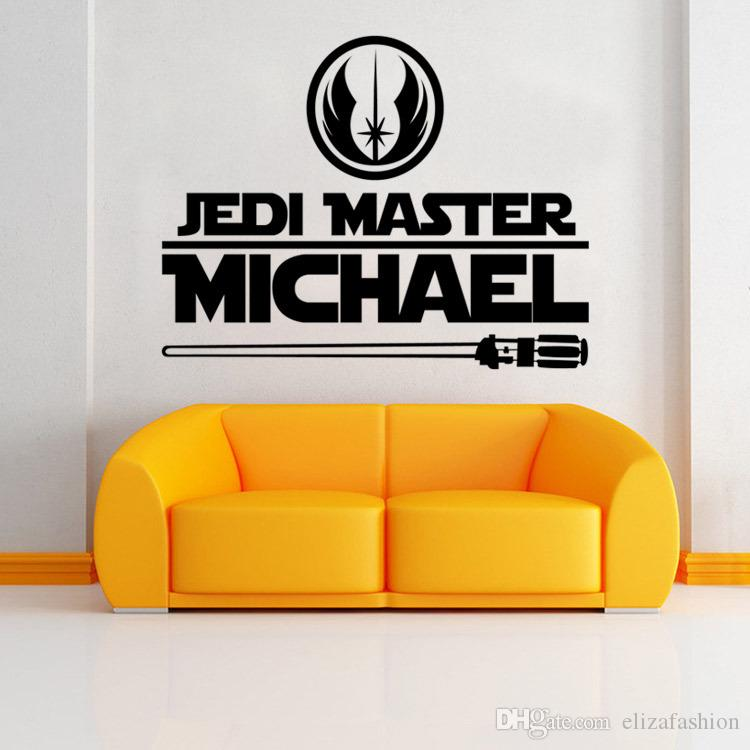 Jedi Master Michael Decals Star Wars Wall Decals Art Murals Sticker Kids  Boys Teens Room Bedroom Wallpaper Posters Word Wall Stickers World Map Wall  Sticker ...