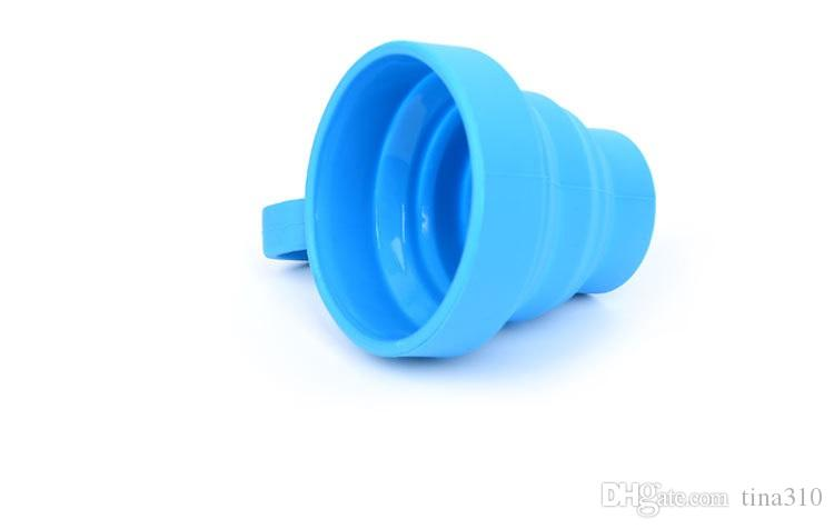 Tazas plegables telescópicas de silicona para viaje con asa Pop Up Copas para beber Copa plegable de viaje para acampar IC885