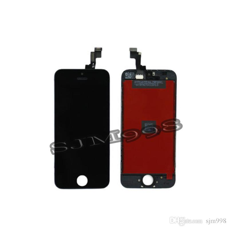 Black White LCD Display Touch Screen Digitizer Full Assembly for iPhone 5S Replacement Repair Parts &
