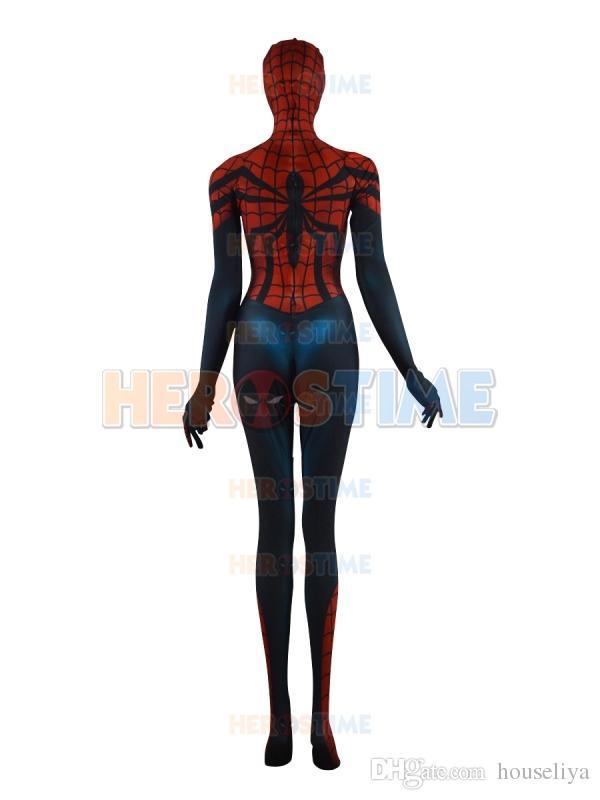 Spider-Girl Costume Mayday Parker Classique Spandex Halloween Cosplay Femme spiderman Superhero Costume Vente Chaude Zentai Costume Livraison Gratuite